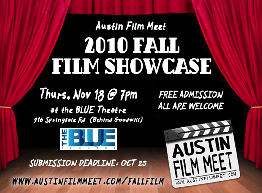Thursday, November 18 – Austin Film Meet Fall Film Showcase
